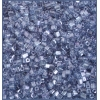 Square Beads 2X2mm Round Hole Blue Luster Matte
